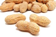 Tres cacahuetes Foto de archivo