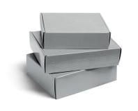 Tres cajas de cartón Imagen de archivo
