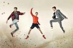 Tres caras del mismo adolescente Fotografía de archivo libre de regalías