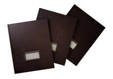 Tres carpetas retras Imágenes de archivo libres de regalías
