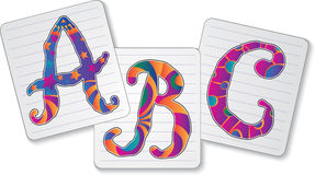 Tres cartas Stock de ilustración