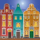 Tres casas Ilustración del Vector