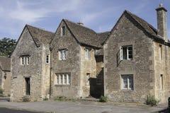 Tres casas medievales en Lacock Fotografía de archivo