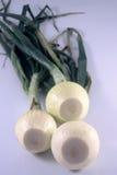 Tres cebollas Foto de archivo
