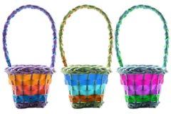 Tres cestas de Pascua foto de archivo libre de regalías