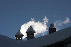 Tres chimeneas Foto de archivo libre de regalías