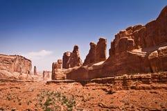 Tres chismes, arcos parque nacional, Utah Imagen de archivo
