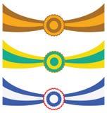 Tres cintas Imagenes de archivo