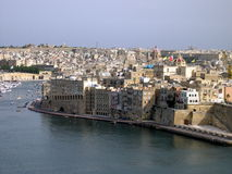 Tres ciudades, Malta Imagen de archivo libre de regalías