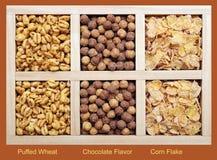 Tres clases de cereales Imagenes de archivo