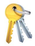 Tres claves stock de ilustración