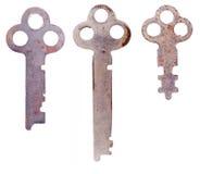 Tres claves oxidados Imagen de archivo