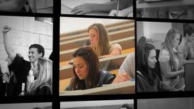 Tres clips cortos de la gente en escuela ilustración del vector