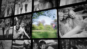 Tres clips cortos sobre una familia al aire libre