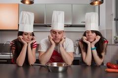 Tres cocineros imagenes de archivo