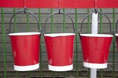 Tres compartimientos rojos Foto de archivo libre de regalías
