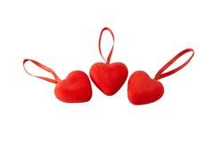 Tres corazones Imagen de archivo
