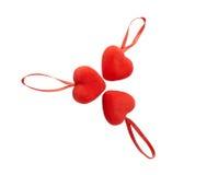Tres corazones Imagenes de archivo