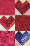 Tres corazones acolchados imágenes de archivo libres de regalías