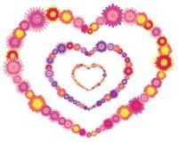 Tres corazones de la flor Imagenes de archivo