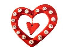 Tres corazones de la tarjeta del día de San Valentín imagenes de archivo