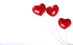 Tres corazones plásticos Foto de archivo libre de regalías