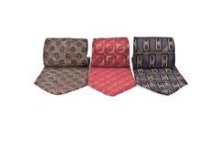 Tres corbatas varicolored foto de archivo libre de regalías