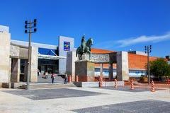 Tres Cruces公共汽车总站在蒙得维的亚,乌拉圭 免版税库存图片