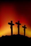 Tres cruces Imágenes de archivo libres de regalías