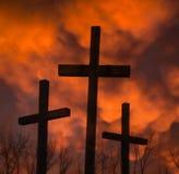 Tres crucifijos Fotos de archivo libres de regalías