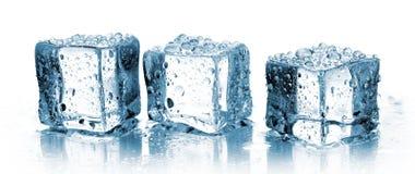 Tres cubos de hielo Fotografía de archivo