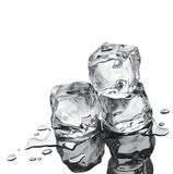 Tres cubos de hielo Imagen de archivo libre de regalías