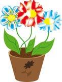 Tres de flores Imágenes de archivo libres de regalías