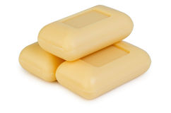 Tres de jabón amarillo Imagenes de archivo