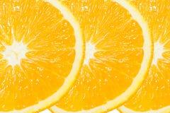 Tres de la rebanada anaranjada Fotografía de archivo libre de regalías