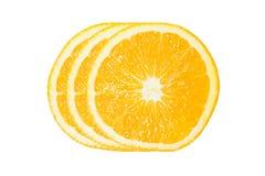 Tres de la rebanada anaranjada Fotografía de archivo