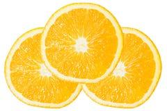 Tres de la rebanada anaranjada Foto de archivo libre de regalías