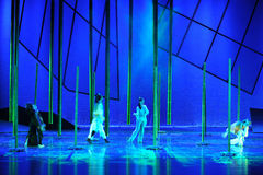 Tres de nosotros son drama de la danza del together-The que camina la leyenda de los héroes del cóndor Fotos de archivo