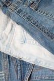 Tres de pantalones vaqueros Foto de archivo libre de regalías