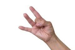 Tres dedos fotografía de archivo libre de regalías
