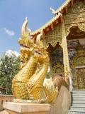 Tres dirigieron la estatua del Naga Fotos de archivo