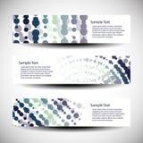 Tres diseños abstractos de la cabecera Fotografía de archivo libre de regalías