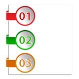Tres diversas opciones ilustración del vector