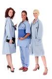 Tres doctores de sexo femenino atractivos fotografía de archivo libre de regalías