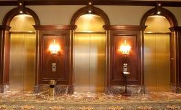 Tres elevadores Imágenes de archivo libres de regalías