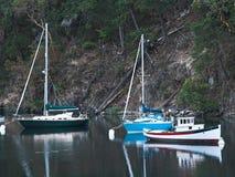 Tres en la bahía Imagen de archivo libre de regalías