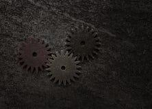 Tres engranajes del metal Foto de archivo