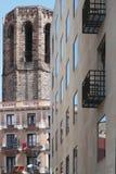 Tres eras de Barcelona Imágenes de archivo libres de regalías