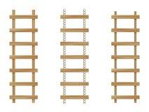 Tres escalas de madera Fotografía de archivo libre de regalías