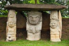 Tres estatuas antiguas Imagenes de archivo